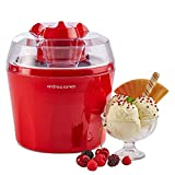 "Andrew James Ice Cream Maker – Voted ""Best Buy"" By Which? Magazine. 1.5 Litre – Red"