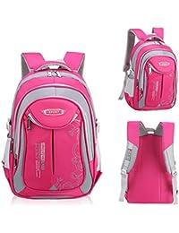 9b56d8940a UrChoiceLtd® Backpacks Children School Bag Boys Girls Grades 4-6 Shoulder  Waterproof Reflective Bag