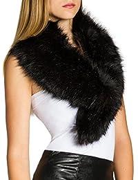 CASPAR STO001 Cuello de Piel Sintético para Mujer / Bufanda Elegante para el Invierno