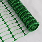 *FREE DELIVERY* Green Plastic Mesh Barrier Safety Fence Netting - 50m Roll. By True Products ®