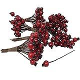FloristryWarehouse Künstliche rote Hagebuttenbeeren 9mm (x144) Alternative zu Weihnachten Holly Beeren