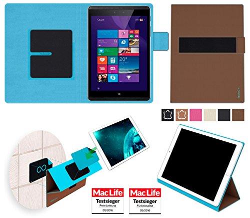 reboon Hülle für Hewlett Packard Pro Tablet 608 Tasche Cover Case Bumper   in Braun   Testsieger