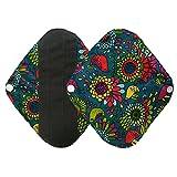 Toalla Higiénica,Logobeing 2Pcs Reutilizable Paño de Bambú Lavable Menstrual Mamá,Compresa Reutilizable,Panties (G)