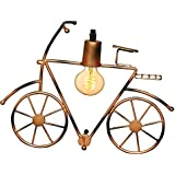 Antique Vintage Cycle Design Wall Lamp With Edison Filament ( Brown)