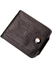 Malloom® Frauen Männer Bifold Business Leder Brieftasche ID Kreditkarteninhaber Reißverschluss Taschen Handtaschen Tasche Segeltuch Kurier-Beutel