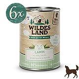 Wildes Land | Nassfutter für Hunde | Puppy Lamm | 6 x 400 g | mit Reis, Kürbis, Wildkräutern & Distelöl | Glutenfrei | Extra viel Fleisch Akzeptanz und Verträglichkeit