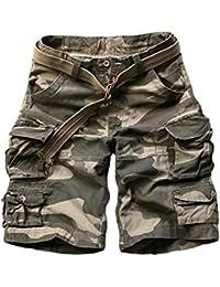 8336c2555366 Menschwear Herren Vintage Cargo Shorts Bermuda Kurze Hose Sommer Kurze Hose