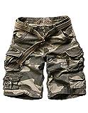 Menschwear Herren Vintage Cargo Shorts Bermuda Kurze Hose Sommer Kurze Hose (40