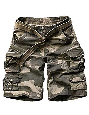 Menschwear Herren Vintage Cargo Shorts Bermuda Kurze Hose Sommer Kurze Hose (36