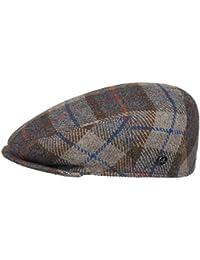 Lierys Inglese Flatcap mit Überkaro Schirmmütze für Herren Schirmmütze Schiebermütze Wintercap mit Schirm, mit Futter Winter Sommer