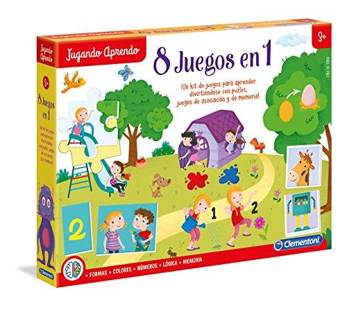 Clementoni- Kit 8 Juegos Aprender y Jugar,, Miscelanea (65600.4)