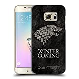 Officiel HBO Game Of Thrones Stark Symboles Affligés Sombres Étui Coque D'Arrière Rigide Pour Samsung Galaxy S7 edge