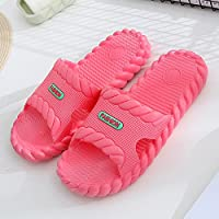 fankou Slippers Male Summer Stay Cool with a Couple of Indoor Slippers Thick Plastic Bath Anti-Slip Bath Slippers Female Soft Bottom,38-39,A- Watermelon Red.