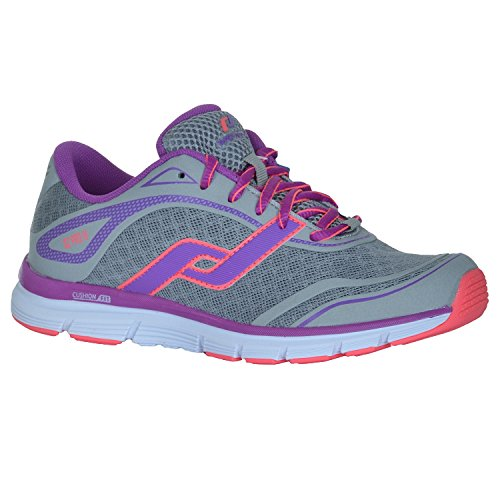 Pro Touch OZ Pro IV W Scarpe da corsa da donna 232490 Grey Light/Violet/Red Light grigio