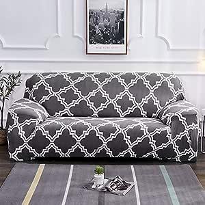 accessori per la decorazione della casa con motivo geometrico e neve 1 seat Ausuky set di copridivano con motivo natalizio per proteggere il divano e proteggere il divano