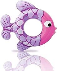 Newin Star Kinder Schwimmring, Aufblasbarer Unterarm Schwimmring Fisch Pool Float Ring mit Schnellventile Pool Party Dekorationen Spielzeug für Kinder (Lila)