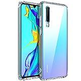 AINOYA Coque pour Huawei P30, Etui Transparent Silicone TPU Souple, Bumper Housse de Protection pour Huawei P30.