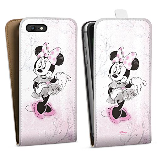 Apple iPhone SE Silikon Hülle Case Schutzhülle Disney Minnie Mouse Merchandise Geschenke Downflip Tasche weiß