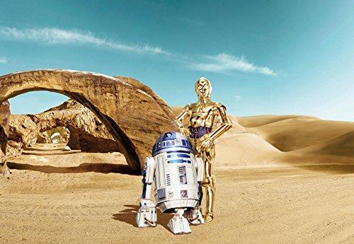 Komar Star Wars Lost Droïdes R2-D2C-3PO papier peint, vinyle, Multicolore, 8pièces
