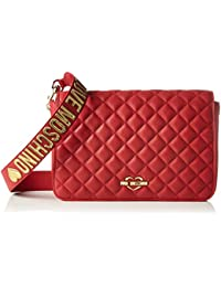 Love Moschino - Borsa Nappa Pu Trapuntata Rosso, Shoppers y bolsos de hombro Mujer, Rot (Red), 18x29x6 cm (W x H D)