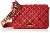 Love Moschino Borsa Nappa Pu Trapuntata Rosso - Borse a spalla Donna, Rot (Red), 18x29x6 cm (L x H D)