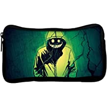 Snoogg Smiling Demon Poly Canvas Utility Pouch, 8x3.75-inch (Multicolour)