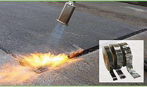 goudron Asphalt Joint ruban de réparation Torch-on 30mm x 10m de long pour chemin Allée et route