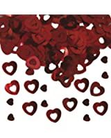 15g Tischkonfetti Herz Rot Hochzeit