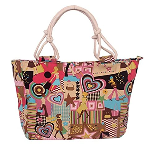 TAILUN Womens Canvas Handbag Purse Beach Tote Bags Shopping Satchel