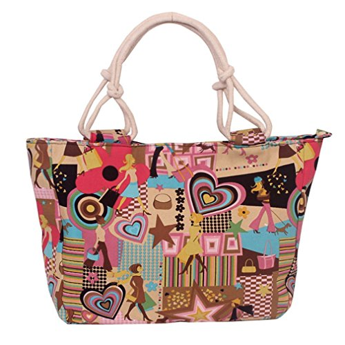 TAILUN Womens Canvas Handbag Purse Beach Tote Bags Shopping Satchel Bag