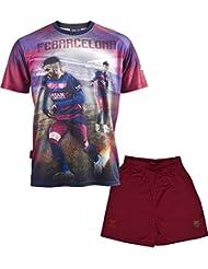Ensemble Maillot + short Barça - NEYMAR Jr - Collection officielle FC BARCELONE - Taille enfant