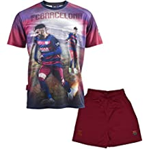 Conjunto camiseta + Short FC Barcelona–Neymar Jr–Colección oficial FC Barcelona–Talla infantil Azul azul Talla:12 años