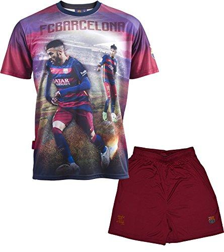 Set Trikot + Shorts Barça-Neymar Jr-Offizielle Kollektion FC Barcelona-Kindergröße 8 Jahre Blau - blau