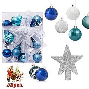 O-Kinee Bolas de Navidad Azul