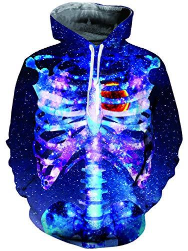 enpullover 3D Druck Grafik Star Langarm Unisex Halloween Hoodie XL ()