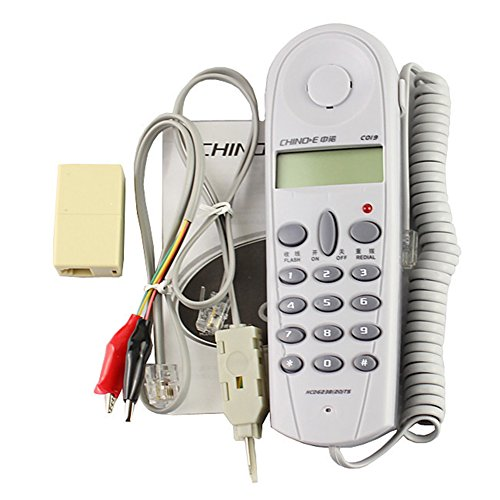 SaySure - Telephone Phone Line Butt Test Tester Lineman Tool Cable Set - Handset Set