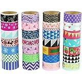 UOOOM Multi-pattern Washi Tape Ruban Adhésif Papier Décoratif Masking tape Scrapbooking (10 modéles)