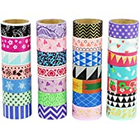 UOOOM Washi Cintas Washi tapes Decorativas de Colores Washi Cinta de Enmascarar para DIY