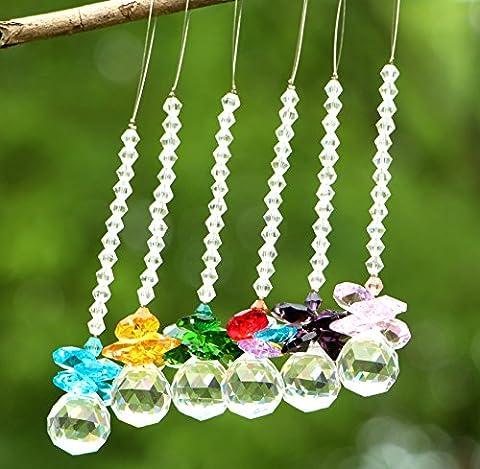 Yier Kronleuchter Kristall Prismen Fenster Regenbogen Hersteller Suncatcher Pack von 6