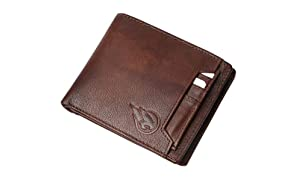 Ruge Genuine Leather RFID Blocking Men's Wallet - Antique Brown