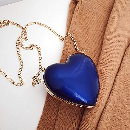 SAOGA Fairy Kleine Tasche Winter Tide Koreanische Version der Herzkette Kuriertasche Cute Mini Girl Schultertasche, blau