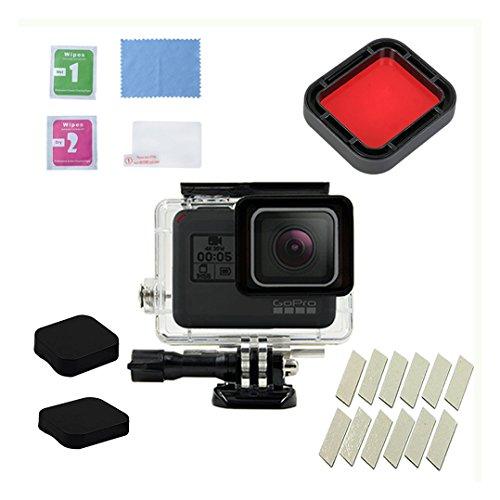 junkai 26 in 1 Action-Kamera Zubehör Kit für GoPro Hero 5 Hero 6, Wasserdichtes Gehäuse Dive Housing Frame Mount Kit