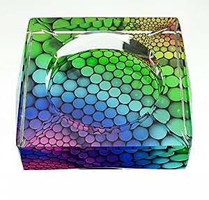 Parma77 Home Office de cendrier carré en cristal avec décoration Spot dégradé Supply Cendrier de Cendrier