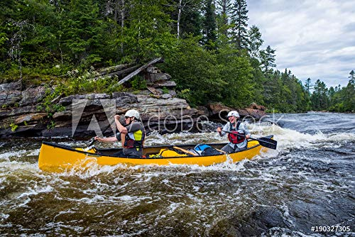 druck-shop24 Wunschmotiv: Group of People Paddling The Whitewater of The Noire River in Quebec, Canada. #190327305 - Bild auf Leinwand - 3:2-60 x 40 cm / 40 x 60 cm (Noir Canada)