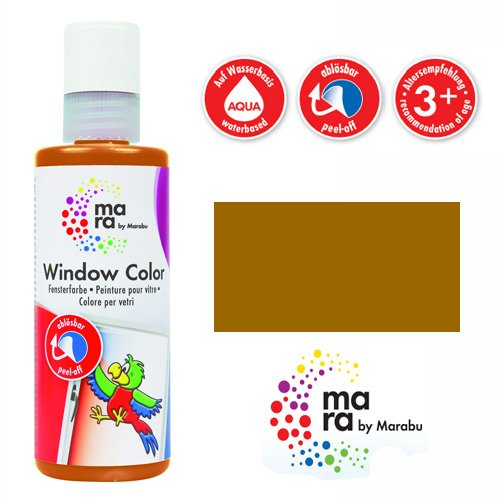 mara by Marabu Window Color, 80 ml, hellbraun VE = 1
