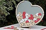 3D Rahmen Hochzeitsgästebuch Drop In 60 herz Gästebuch Geschenk zu Hochzeit Standfuß Jubiläen Dropbox