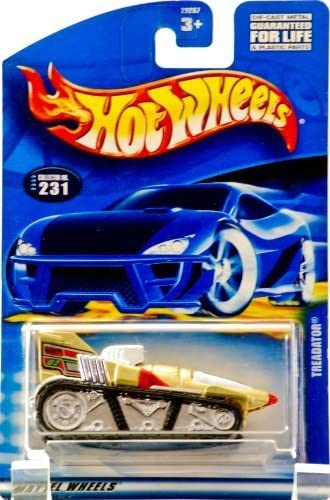 2000 - Mattel - Hot Wheels Wheels Wheels - Collector 231 - Treadator - Metallic Gold - Thailand Base - Chrome Engine & Windows - New - Out of Production - Rare - Limited Edition - Collectible by Hot Wheels | D'adopter La Technologie De Pointe