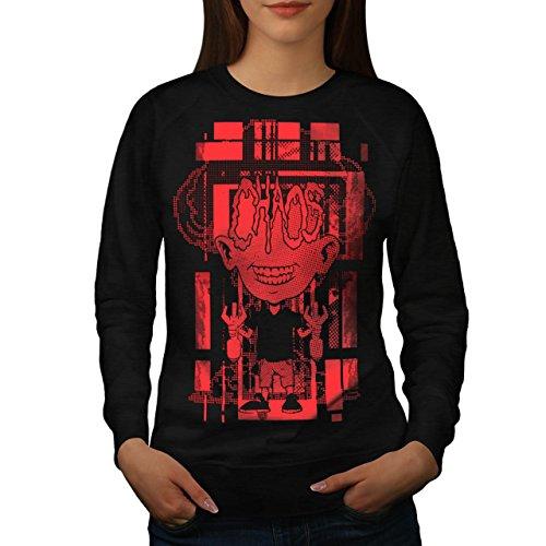 Verrückt Wissenschaftler Horror Bombe Kind Damen M Sweatshirt | Wellcoda