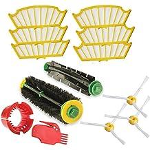 iRobot Kit De Recambio Roomba Series 500 505 510 520 530 532 535 540 550 551 555 560 562 564 565 570 571 572 580 581 - Accesorios, Filtros y Cepillos - Garantía: 24 Meses Bosaca Oficial