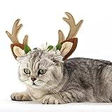 bismarckbeer Pet Hund Katze Weihnachten Haarreif Rentier Geweih mit Blumen für Teddy Labrador